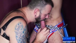 BREEDMERAW Hairy Sub Nick Hole Chained To Fuck Raw Cock