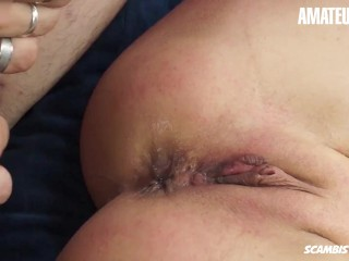 Scambisti Maturi – Hot Cougar Attempting First Time Pornography And Accumulates Ass Fucked