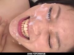 Inexperienced Yumi Tanaka tries several dicks in the sa - More at 69avs com