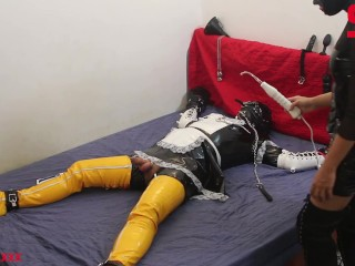 S04E01 Dominatrix Tortures Tied Up Sissy w/ Anus & Excessive Whipping DEMO