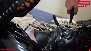 S04E01 Dominatrix Tortures Tied Up Sissy w/ PISS Anal & Whipping DEMO