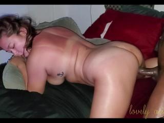 Thick Asian girl takes BBC Interracial creampie
