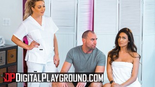 Digital Playground – Two hot babes Katana & Amber share a big cock