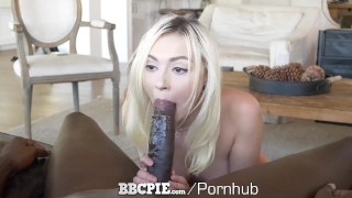 BBCPIE Tight Pussy Blonde Penetrated By Gigantic Black Python Cock