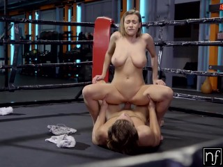 Preview 6 of Busty Josephine Jackson Bounces her Tits on Big Dick Trainer in the Ring