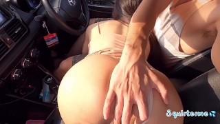 Hot Car Sex in Lockdown City ไทย เย็ดสดบนรถ หีแฉะ แตกพร้อมกัน