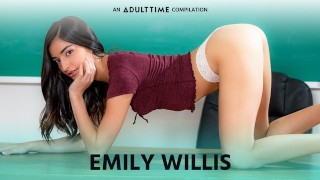 ADULT TIME Emily WIllis Creampie, Threesome , Rough Sex & More P