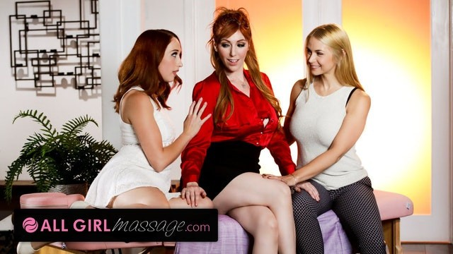 Sarah big ass Allgirlmassage resolving couple issues with our masseuse lauren phillips