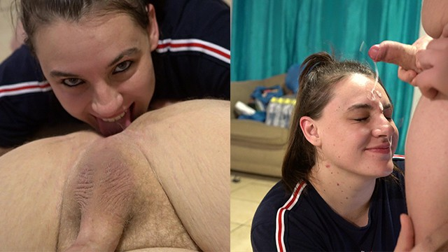 Men eating girl ass Amazing perfect girl rimming guy until facial
