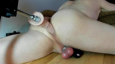 Sex Machine Fucking My Tight Ass and Cumming Handsfree