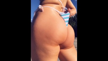Public Beach Perfect Ass ,Tits and Pussy Tease