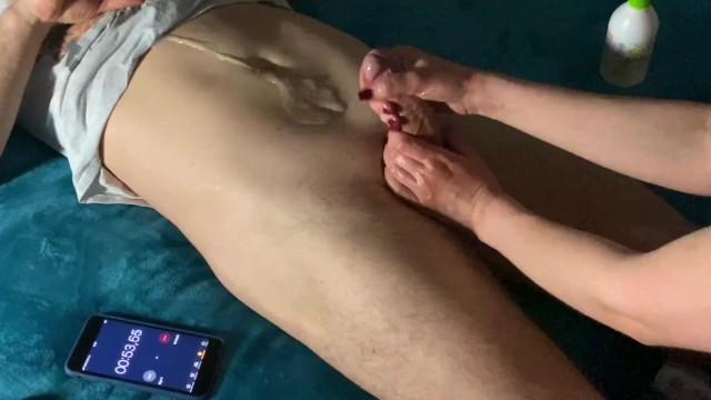 Penis tourture Masturbation therapy: 3 min cruel post orgasm torture huge cumshot