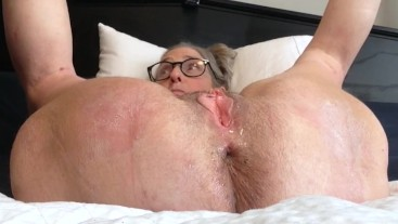 Milf Stepmom Toys Wet Pussy For Stepson Big Squirt Gaping Pussy