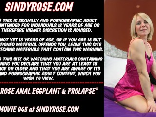 Sindy Rose anal eggplant and prolapse