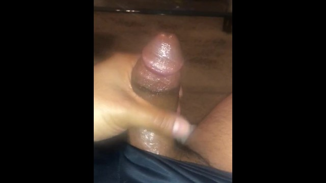 Hardon amateur Netflix and stroking big cock - moaning and cum
