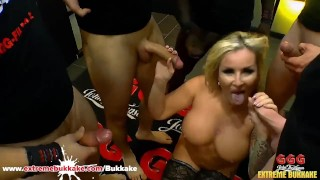 Horny Milf Jarushka likes to Fuck Strangers – Extreme Bukkake