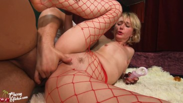 Hot Blonde Deepthroat and Impassioned Fuck after Work - Female Orgasm