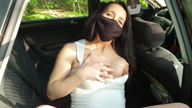 Hot milf up pussy Pregnant appealing milf masturbating in a car close up pussy