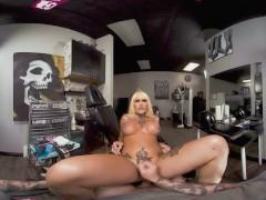 VRB TRANS Bad Tattooed Girl Nadia Love Bangs Famous Tattoo Artist VR Porn