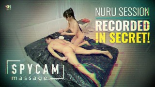 Spycam Caught Erotic Asian Nuru Massage on Tape