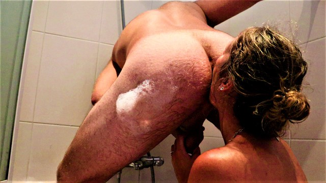 Piss on boyfriend Nympho loves rimming-throating-pissing...
