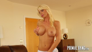 PrimalBang Hot Blonde Tiffany Rousso Sucks Cock & takes a big cumshot 4k bj