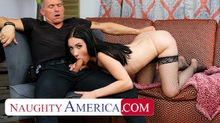 Naughty America Jazmin Luv goes to town on an older cock