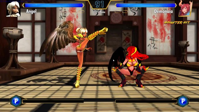 Cartoon network games teen tightint battle Game play hentai fighter - demon vs angel