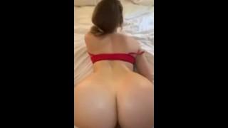 Mia Malkova slides giant white cock into her wet pussy