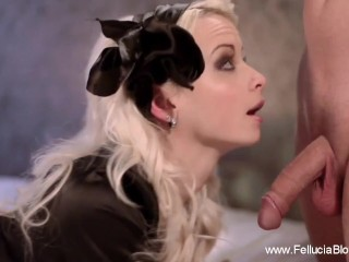Blonde Wife Giving The Perfect Blowjob