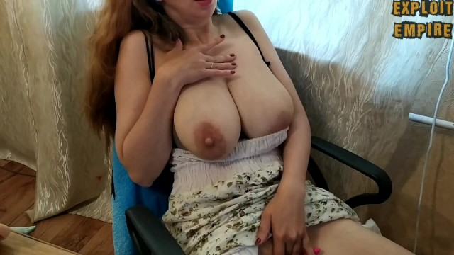 Big saggy tit videos Milf sucks her milky saggy tits and shakes them