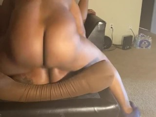 Horny Ebony BBW take dick and explodes instantly