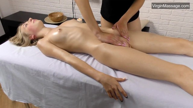 Virgin coconut oil making Super hot russian blondie lizka with small tits massaged