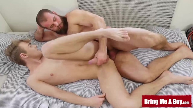 Hairy twink boys Bringmeaboy young lucian fair passionately fucks hairy daddy