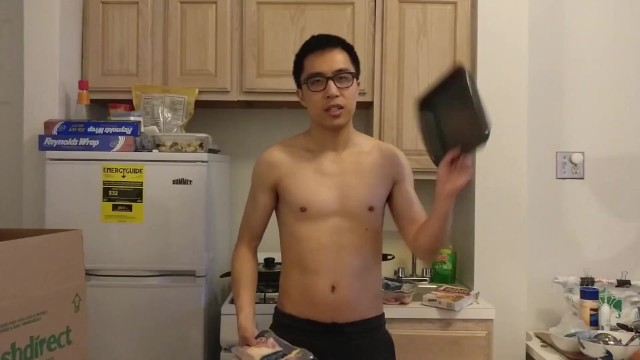 Bone in chicken breast bake recipe Topless chinese guy teaching how to bake chicken the easy way
