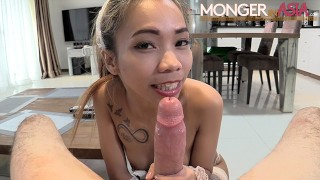 Skinny Filipino maid can barely take my big dick