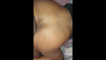 Creamy Sex In Doggy With An Ebony College Girl