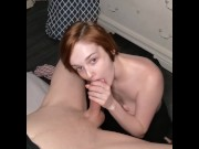 Sweet Nymph's Titty fuck, BJ, Facial oh my!
