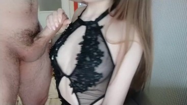 Getting cum on my tits