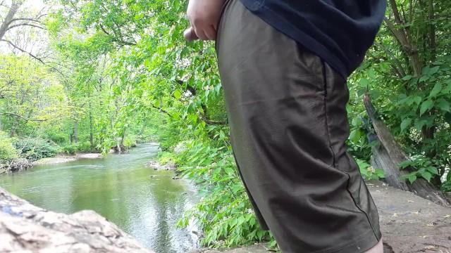 Peeing in the creek Mofo2121 peeing in the creek