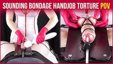 Cock Sounding Bondage from your Nurse – Edging Handjob Torture POV   Era