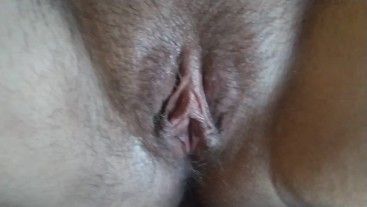 I cum on her pussy lips,but she pushed all my cum inside her fertile pussy!