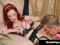 Horny Hot Housewife Shanda Fay Mature Muff Stuffed By Hubby!