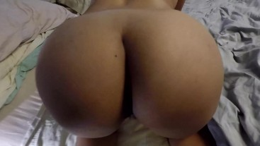Femdom: She spits at him and makes Him Lick Her Ass
