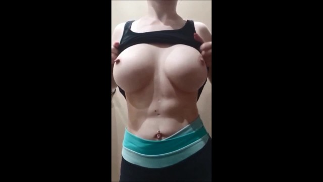 The perfect boob Perfect 18yrold boob drop and massages her tits