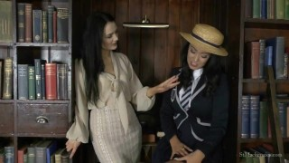 St Mackenzie's – Miss Taylor Strips Student Lauren to Try on Her Uniform