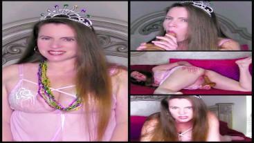 Mardi Gras Princess Masturbation