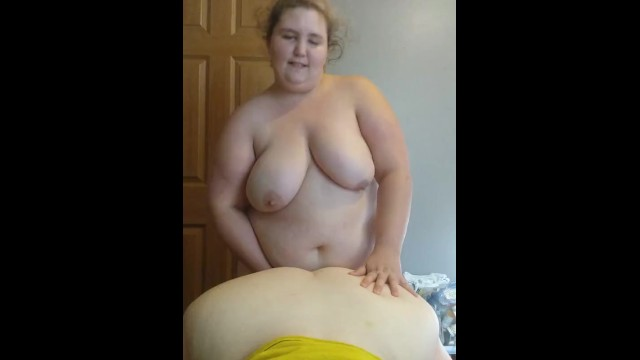 Bbw strap on Bbw wife fucks gf from behind while she blows me