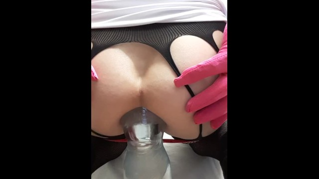 Plastic soldier toy vintage Extreme anal insertion 1,5 liter plastic bottle in ass