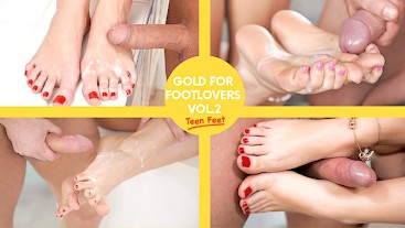 Gold For Footlovers VOL.2 - Fresh young feet cumshot